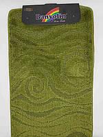 Набор ковриков с ворсом для ванной ''Bonyolin'' зеленый  60х100 и туалета 60х40см.