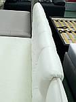 Ліжко Вероніка двоспальне 160х200, ортопедична еко шкіра, тканина, високе узголів'я. Під замовлення, фото 4
