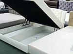 Ліжко Вероніка двоспальне 160х200, ортопедична еко шкіра, тканина, високе узголів'я. Під замовлення, фото 3