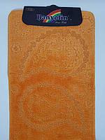 Набор ковриков с ворсом для ванной, оранжевый цвет (Турция) 60х100 и туалета 60х40см., фото 1
