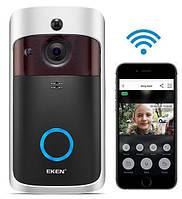 Видео домофон Eken V5 Wi-Fi Smart Doorbell Черный