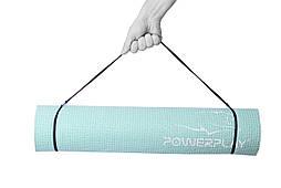 Килимок для фітнесу і йоги PowerPlay 4010 (183*61*0.6) М'ятний