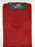 Набор ковриков с ворсом для ванной, бордовый цвет (Турция) 60х100 и туалета 60х40см.