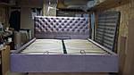 Ліжко Альбіна 2 МК двоспальне 160х200, ортопедична еко шкіра, тканина. високе узголів'я. Під замовлення, фото 2