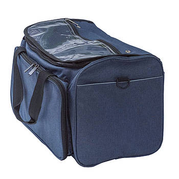 Сумка-органайзер большая, синяя, прямоугольная, ткань 38х24 см