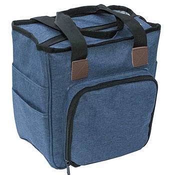 Сумка-органайзер средняя, синяя, прямоугольная, ткань, 14х24см, высота27 см