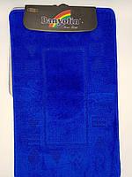 Набор ковриков с ворсом для ванной, синий цвет (Турция) 60х100 и туалета 60х40см.