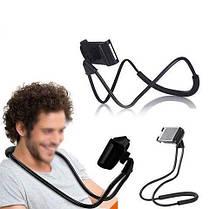 Держатель для телефона на шею 360 градусов вращения гибкий селфи, фото 3