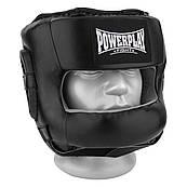 Боксерский шлем тренировочный PowerPlay 3067 с бампером PU + Amara L Черный