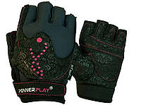 Перчатки для фитнеса PowerPlay 1744 женские Черные S, фото 1