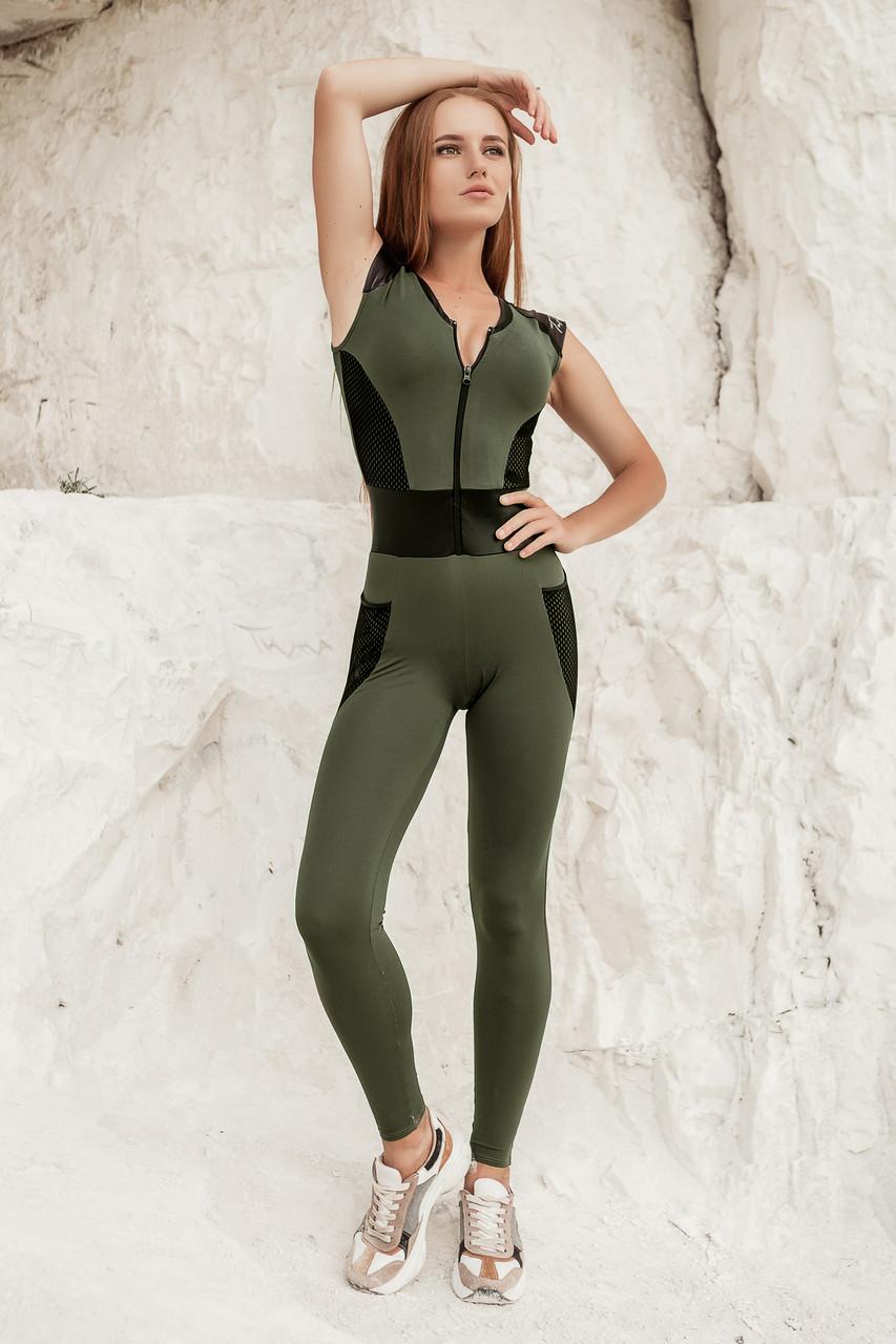 Спортивный комбинезон Totalfit FL1-C36 M грязно-зеленый