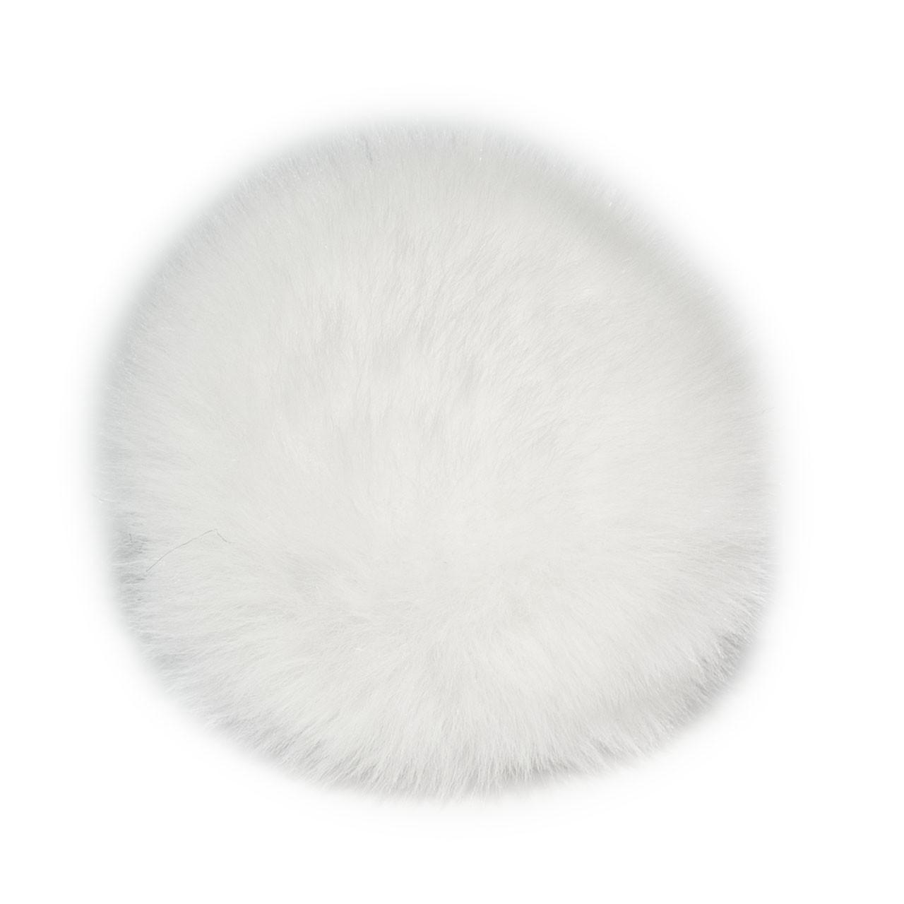 Помпон меховой 8 см, Белый