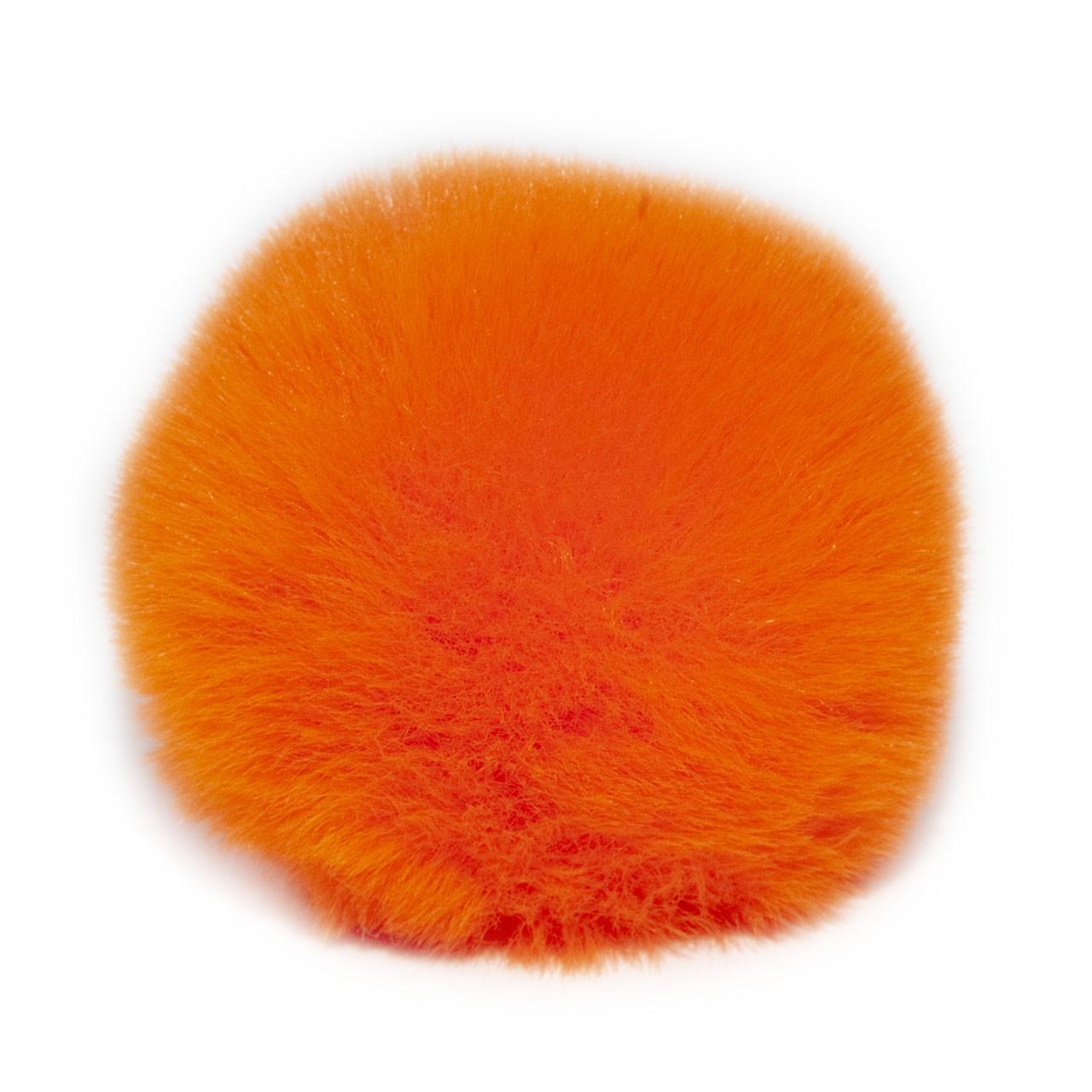 Помпон меховой 9 см, Оранж