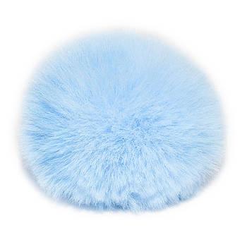 Помпон меховой 9 см, Голубой