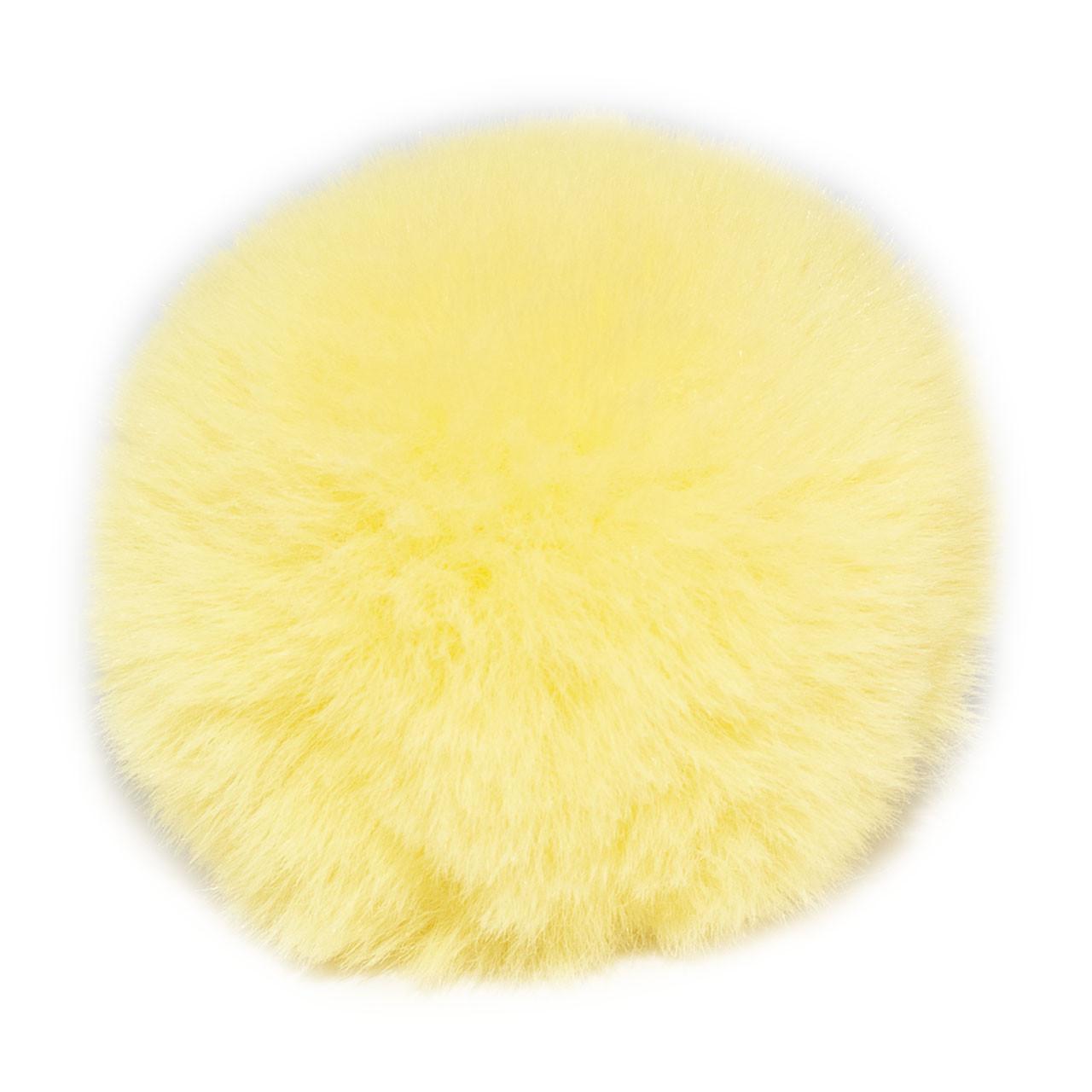 Помпон меховой 9 см, Желтый