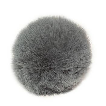 Помпон меховой 9 см, Серый