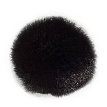 Помпон меховой 9 см, Черный