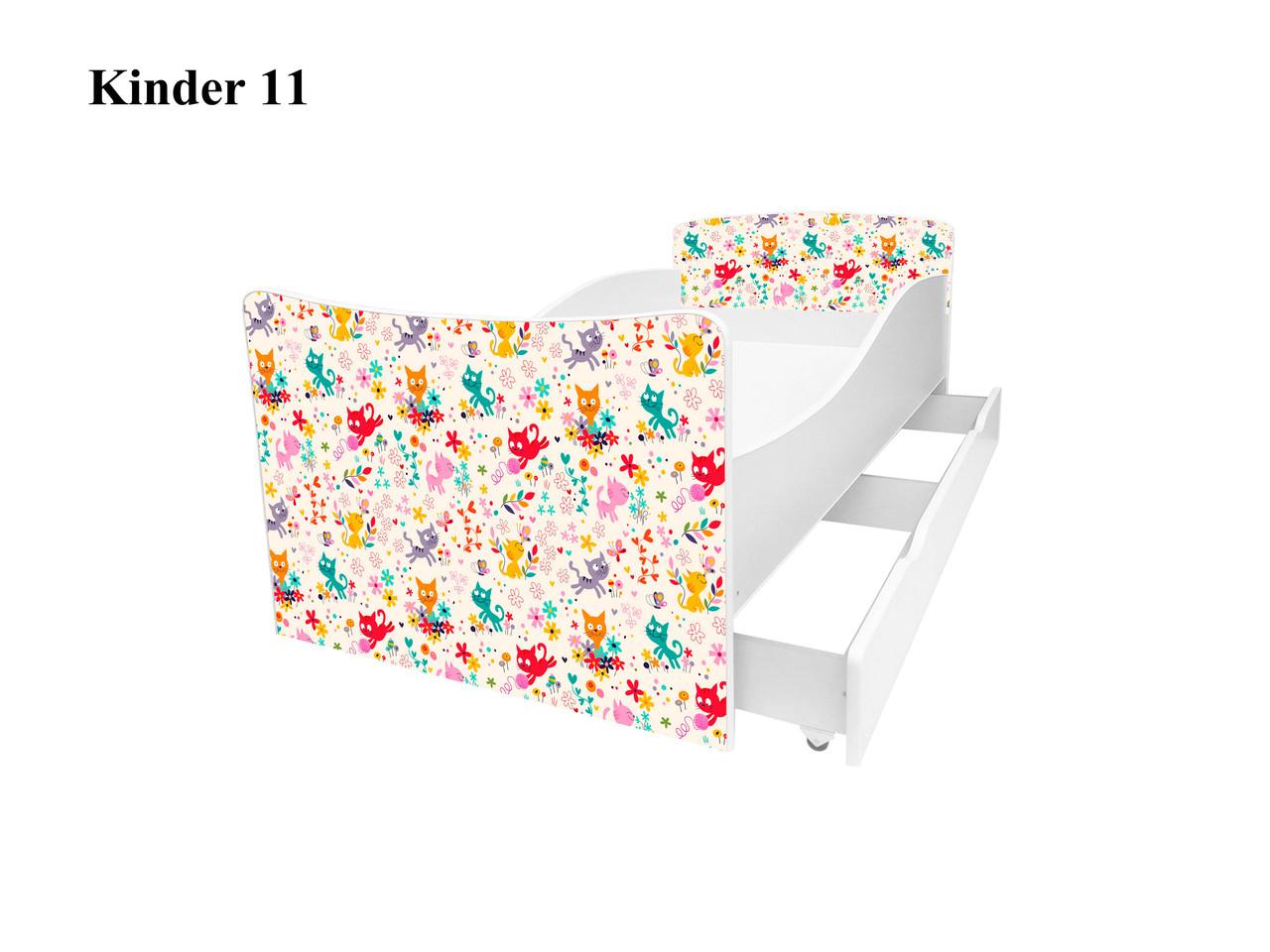 Детская кровать Киндер 11. Сердечки.
