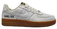 """Чоловічі Кросівки Nike Air Force Low Gore-Tex """"White Milk"""" - """"Білі Коричневі"""" (Репліка ААА+), фото 1"""