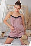 Майка женская для сна темно-лиловая Шайлин, фото 2