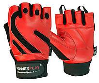 Рукавички для фітнесу PowerPlay +1586 Червоні L