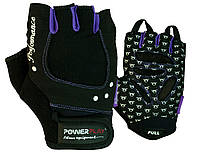 Перчатки для фитнеса PowerPlay 1751 женские Черно-фиолетовые M, фото 1
