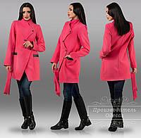 Пальто с поясом кашемировое