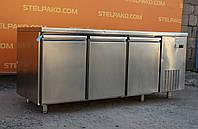 Холодильный стол из нержавеющей стали 185х70х85 см. (Польша), Б/у