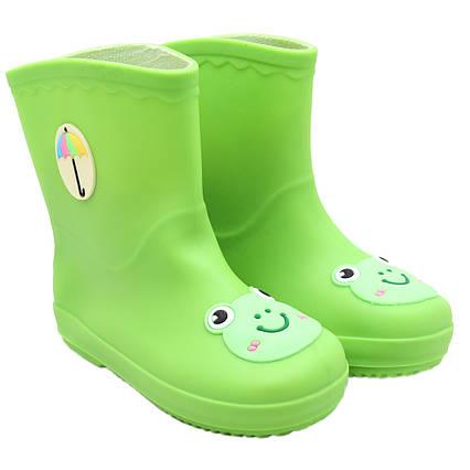 Резиновые сапоги детские, зеленые, 16 см, размер 25,5 (513696-2)