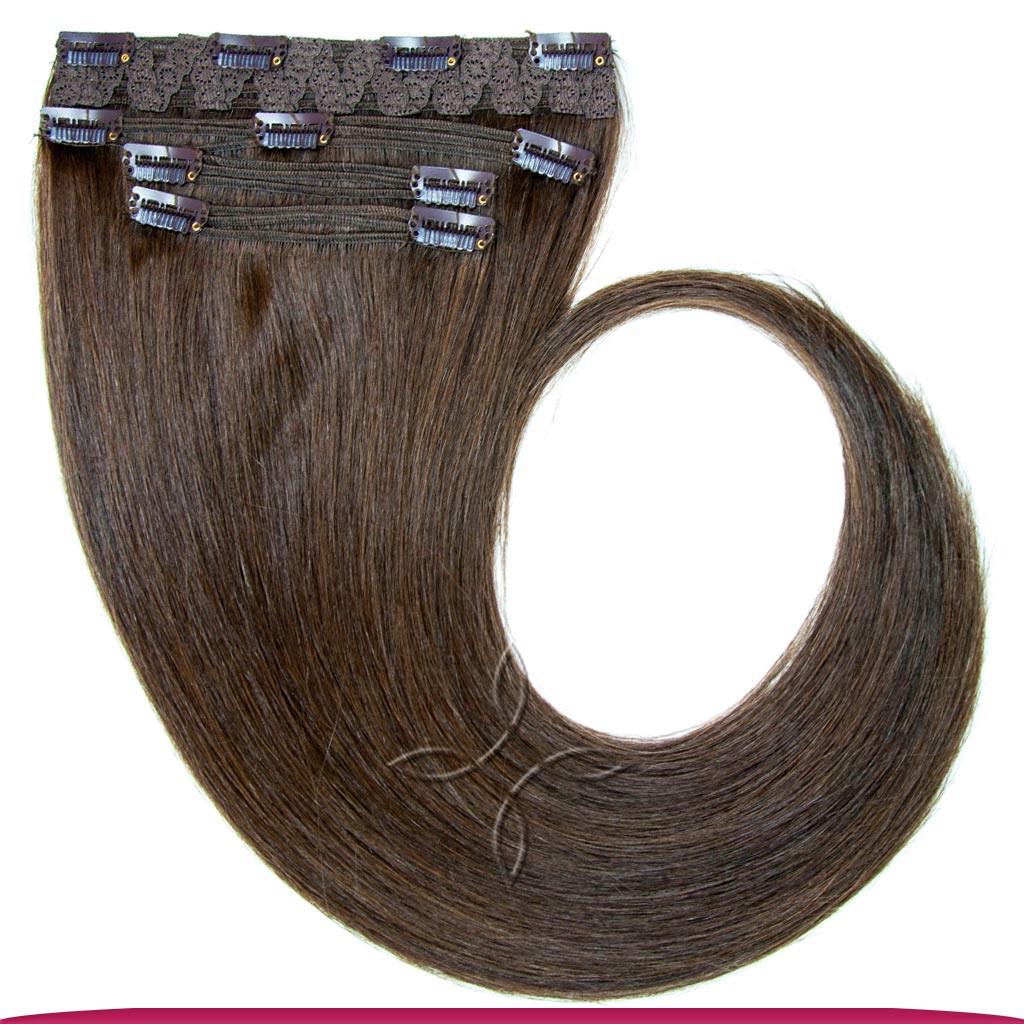Натуральные Славянские Волосы на Заколках 40 см 115 грамм, Шоколад №03