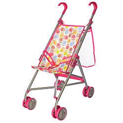 Детская игровая коляска для кукол Melogo 9302 W-B прогулочная