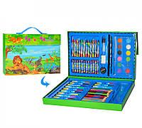 """Детский набор для рисования пенал """"Фломастеры, карандаши, акварельные краски, восковые карандаши"""" 68 предметов"""