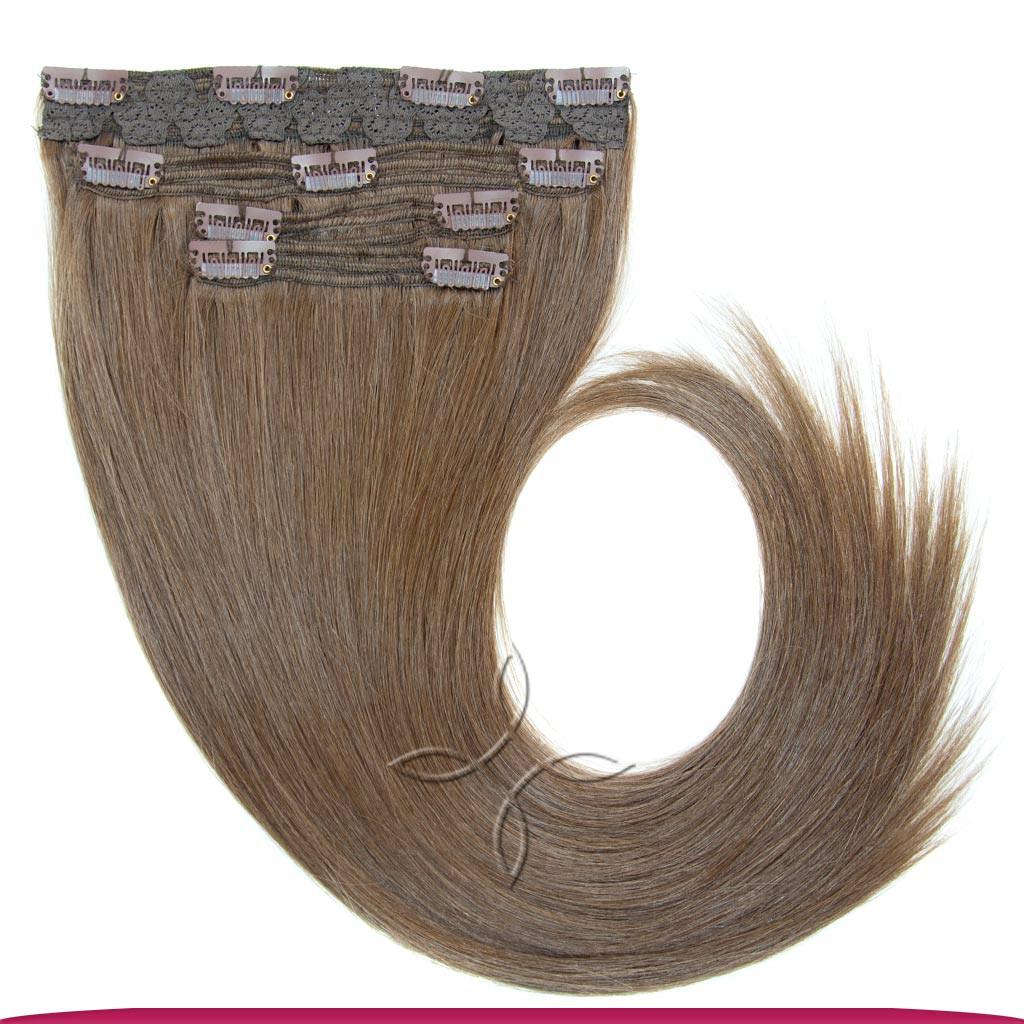 Натуральные Славянские Волосы на Заколках 40 см 115 грамм, Шоколад №05