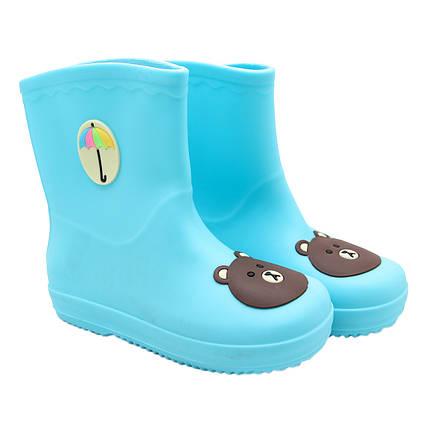 Резиновые сапоги детские, голубые, размер 27 (17 см) (513702-4)