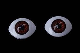 Очі для іграшок 20 мм (темно-коричневі)