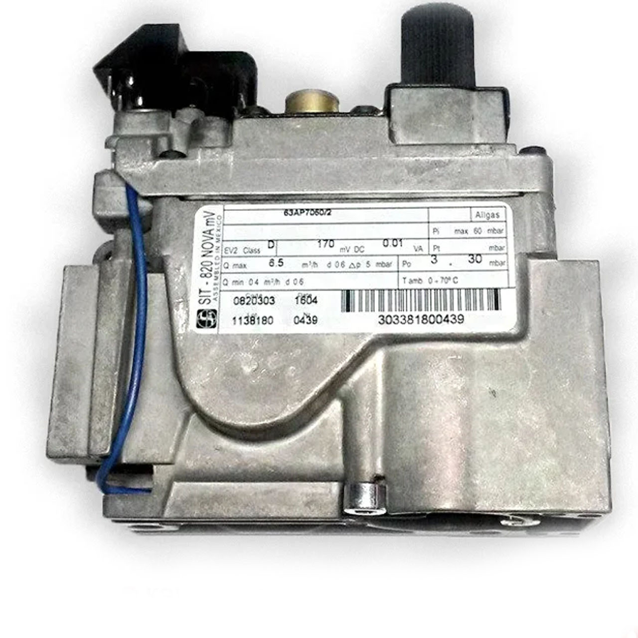Газовый клапан 820 Nova art.0.820.303  (для котлов до 60 кВт) Италия