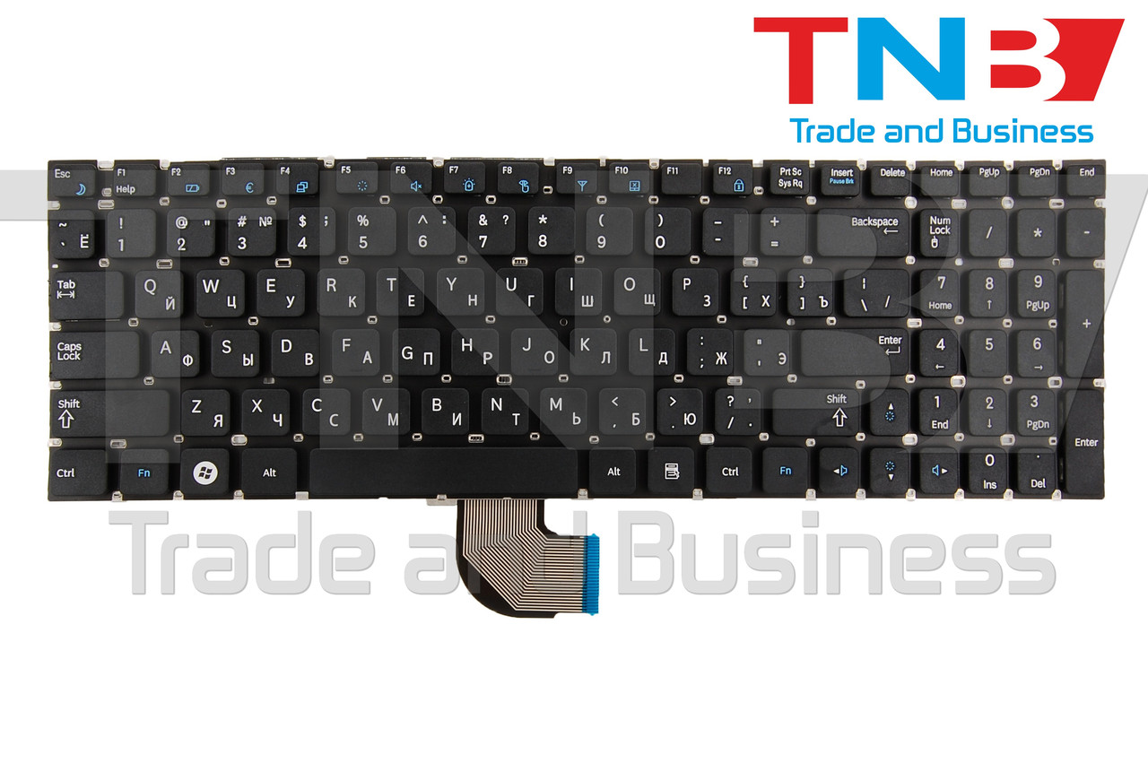 Клавиатура Samsung RC528 RC530 черная без рамки