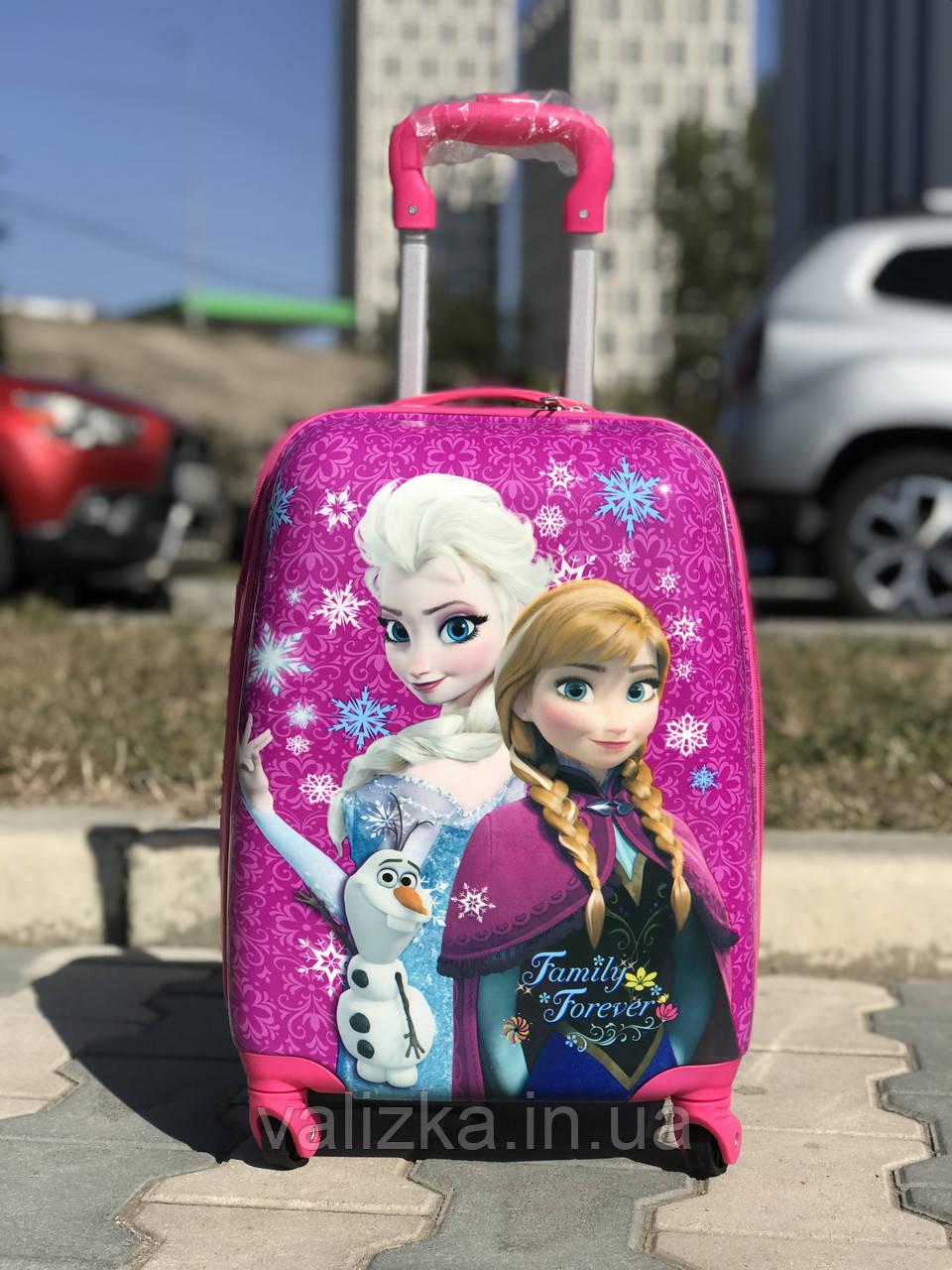 Пластиковый чемодан для ребенка Холодное сердце