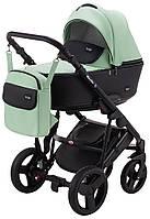 Детская коляска 2 в 1 Richmond Mirello кожа 100% (мята - черный)