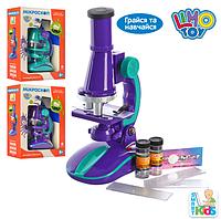 Детский Микроскоп баночки стеклышко свет, Limo Toy SK 0006, 005771