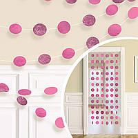 1505-1172 Гірлянда Кола рожеві блиск 2,1м 6од/A