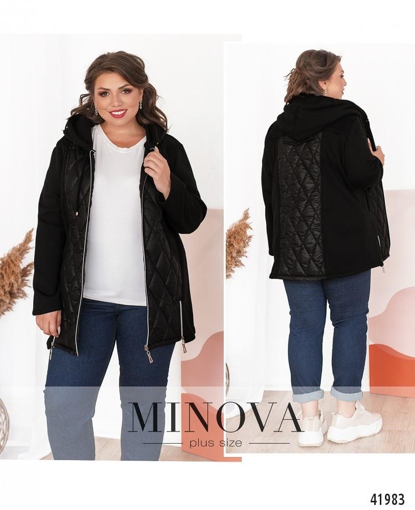 Куртки большие размеры №8-260-чёрный Размеры 52-54,56-58,60-62,64-66,