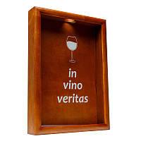 Копилка для винных пробок BST PRK-21 50х35 см. орех In vino veritas большая, фото 1