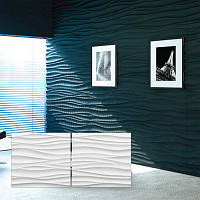 """Гипсовые 3D панели для стен """"Шелк"""" размер 600х600 мм"""