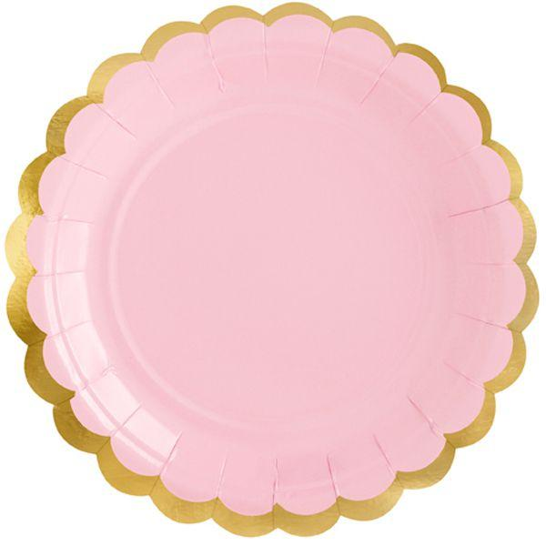 3502-3635 Тарілка ніжно рожева 8см 6од/PD