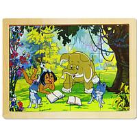 Пазл в рамке «Маугли», 12 деталей, ADEX