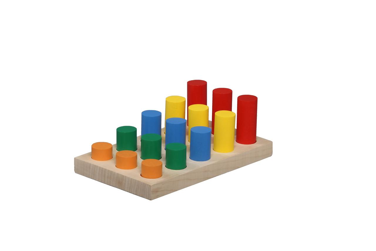 """Игра """"Цветные цилиндры"""", Komarovtoys"""