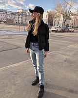Короткая женская дутая куртка на синтепоне в расцветках (Норма), фото 10