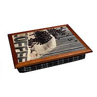 Поднос на подушке цветной BST 710057 44*36 Coffe, фото 1