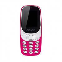 Кнопочный телефон  с камерой, блютузом и мпз плеером на 2 сим карты AELion A300 Purple (копия Nokia 3310)